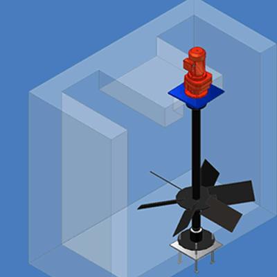 Floculador Turbina Axial